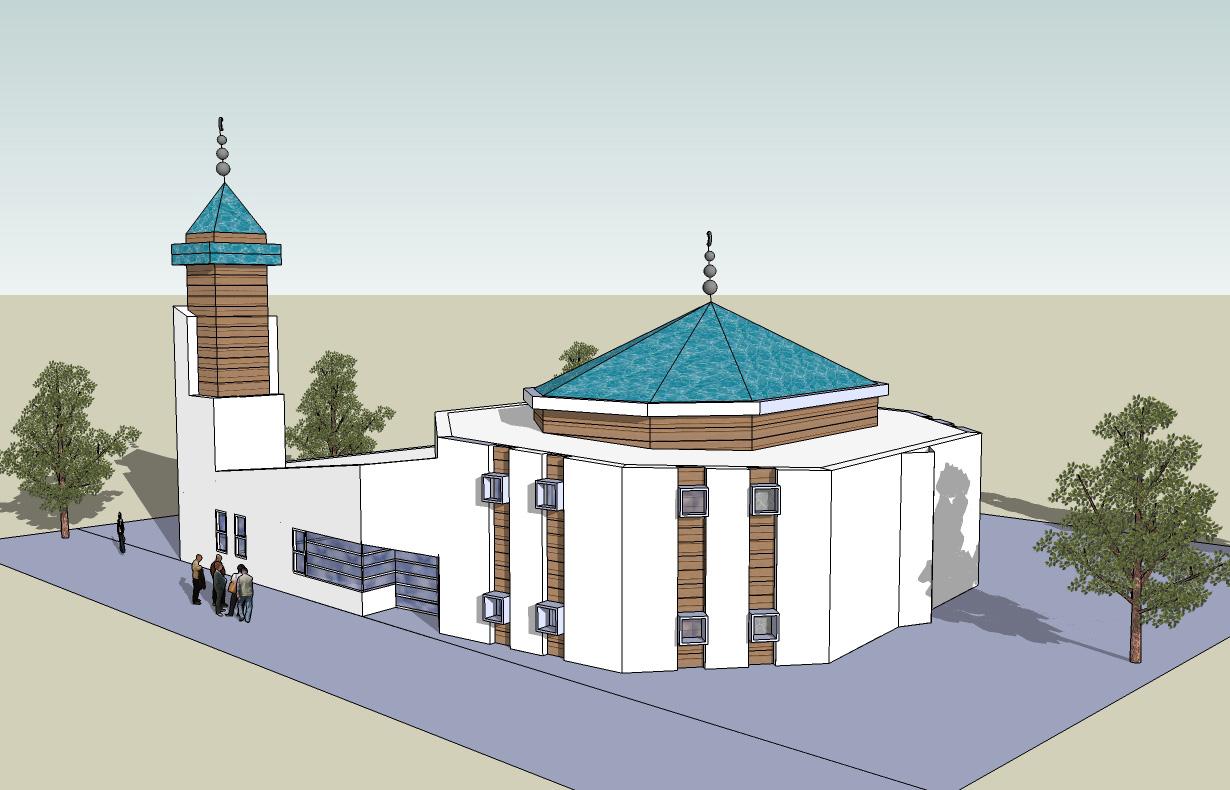 De door ons ontworpen moskee