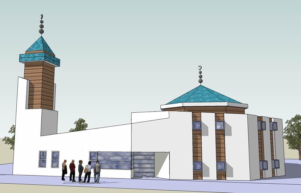 Een andere tekening van de moskee